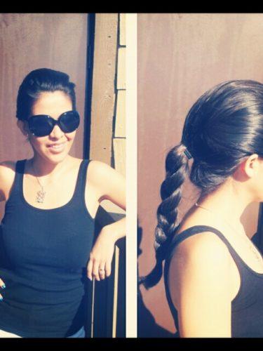 Peinado para salir a bailar :)