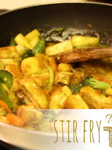 Stir-fry Tofu – Tofu con vegetales