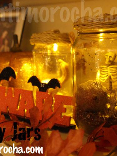 Spooky Jars /Frascos espeluznantes / Decoracion de Halloween /Pumpkin jars