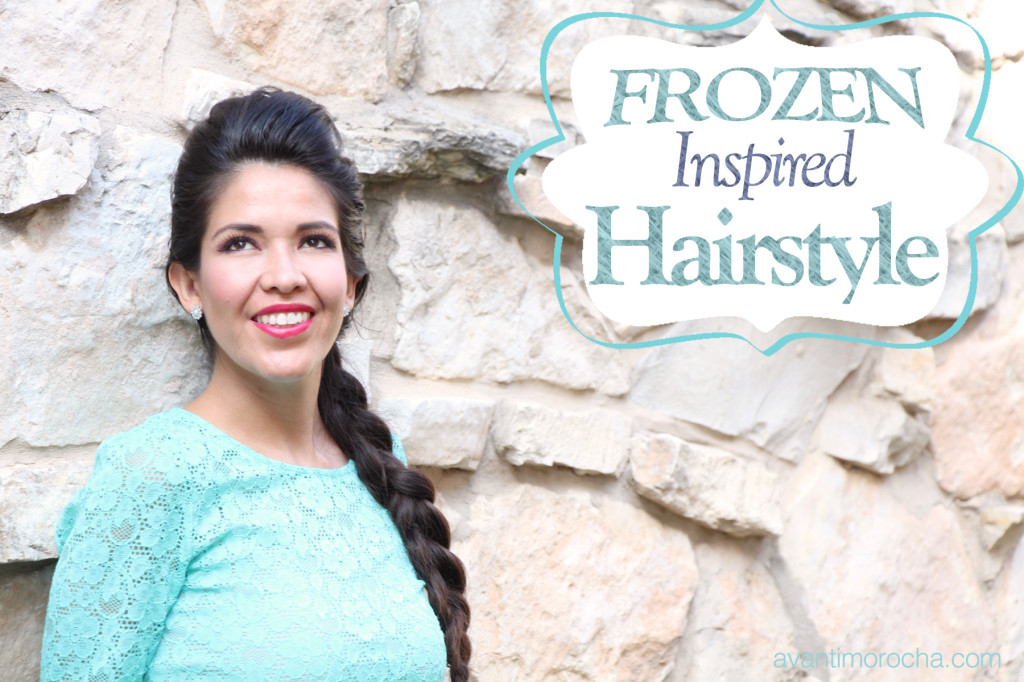 frozen inspired hairstyle