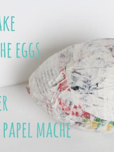 How to Make Paper Mache Eggs / Como Hacer Huevos de Papel Mache