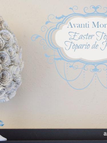 DIY Easter Topiary | Topario de Pascua