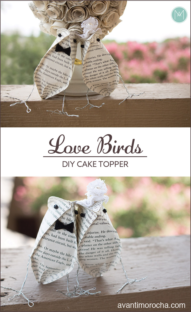 DIY Love Birds -Cake Topper