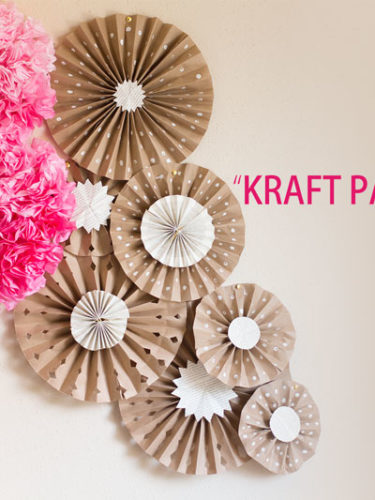 DIY Kraft Paper Fans