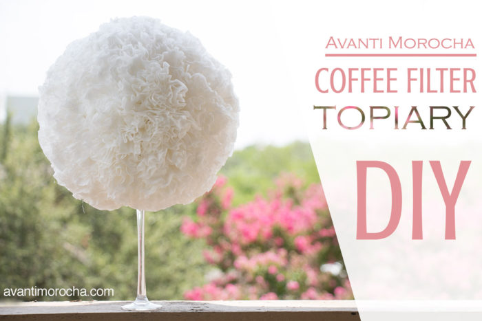 Coffee Filter Topiary
