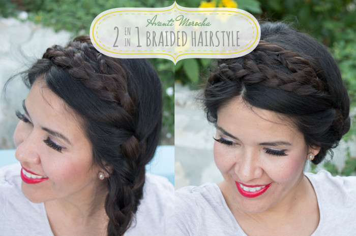 2in1 braided hairstyle