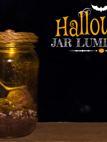 DIY Halloween Jar Luminaries