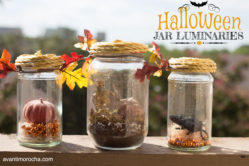 DIY Halloween Jar Luminaries - Avanti Morocha