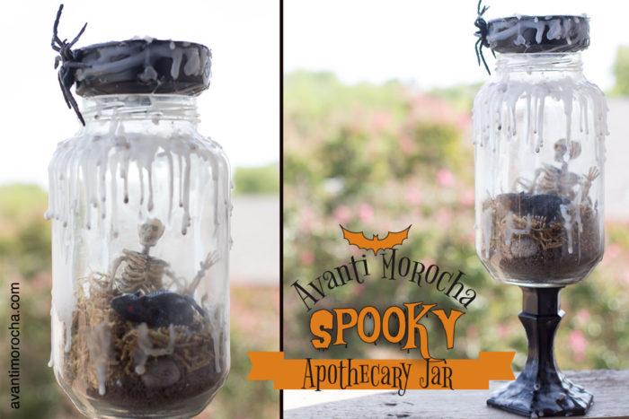 DIY Spooky Apothecary jar