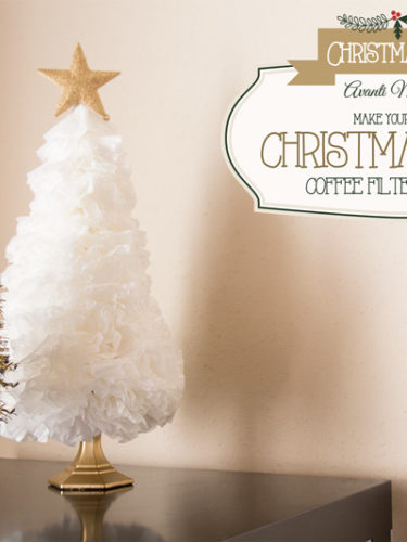 DIY Christmas Tree (Coffee Filter – Tinsel)