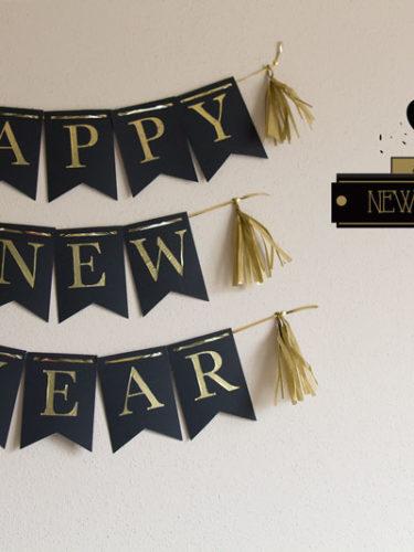 DIY New Year Banner