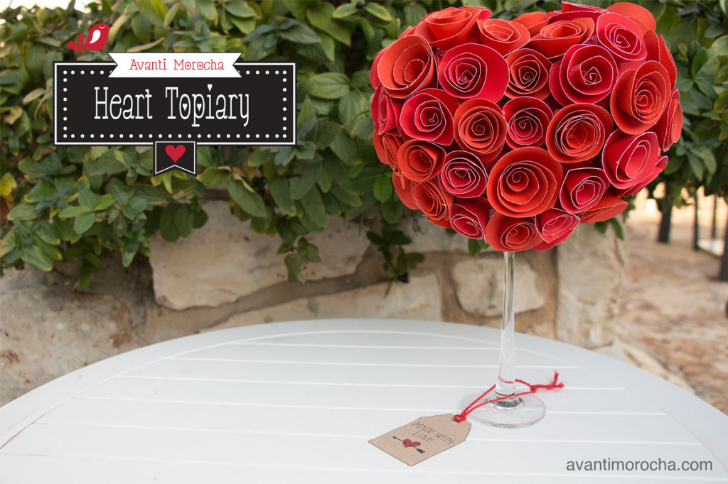DIY heart topiary