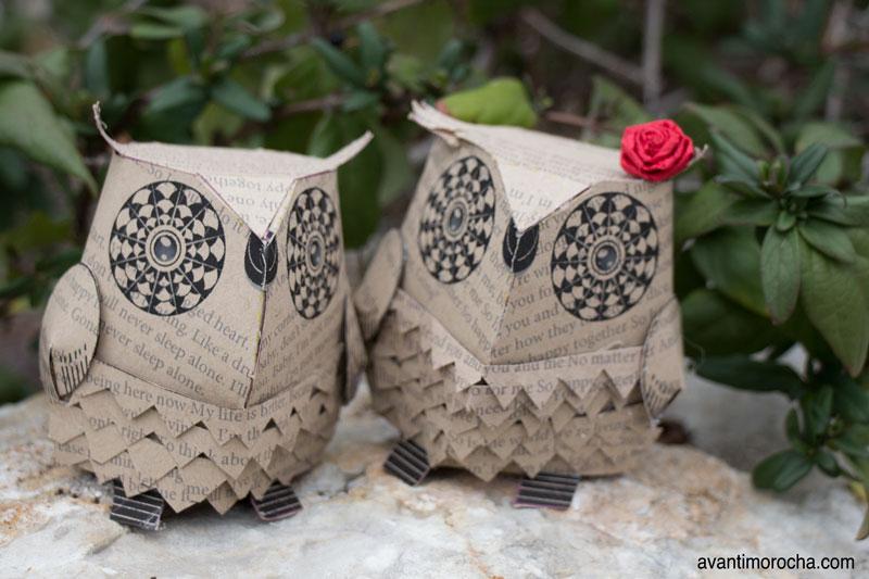 DIY - Paper owls
