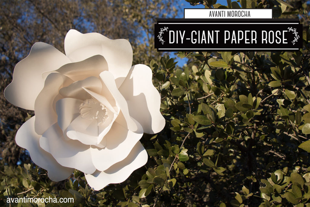 DIY Giant Paper Rose