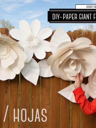 DIY Paper Leaves / Hojas de Papel