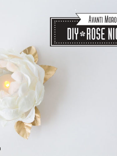 DIY Rose Nightlight – Mother's Day Gift Idea
