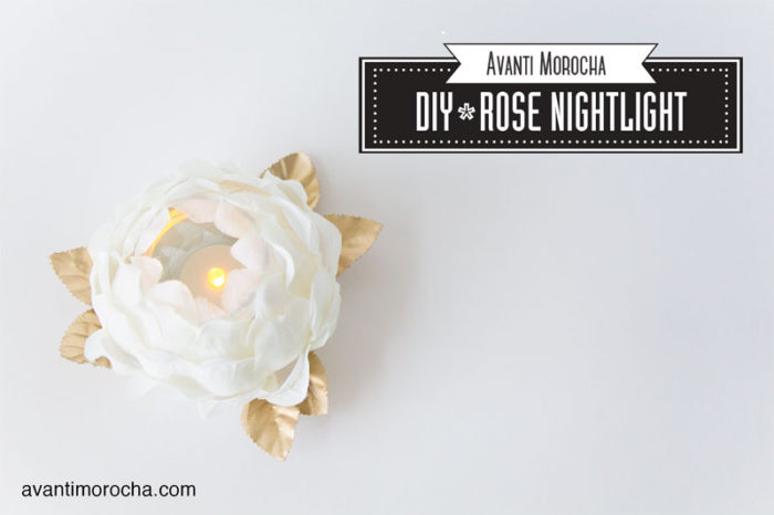 DIY Rose Nightlight -Plastic spoons