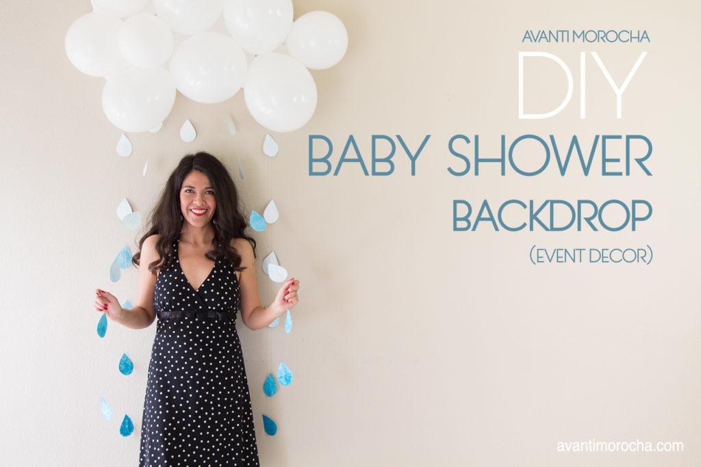 DIY Baby Shower Backdrop
