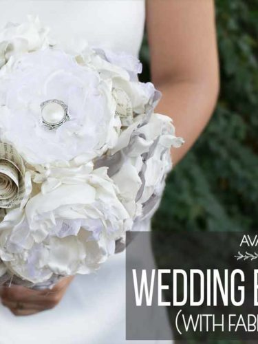 DIY Wedding Bouquet with Fabric Flowers