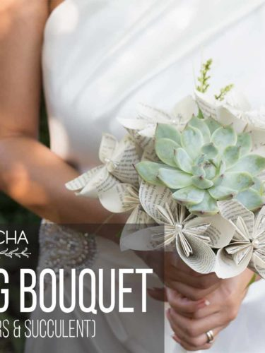 DIY Wedding Bouquet  with Paper Flowers and Succulent
