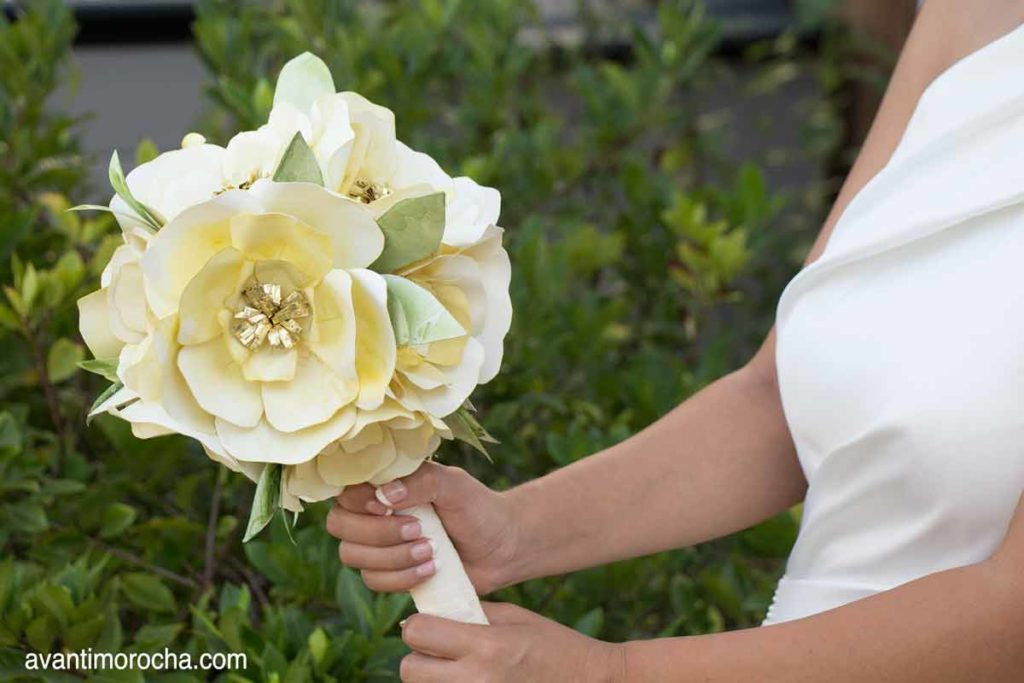 DIY Wedding Bouquet with Paper Flowers