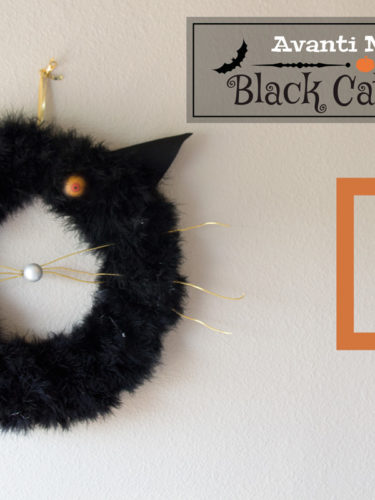 DIY Black Cat Wreath / Corona Halloween