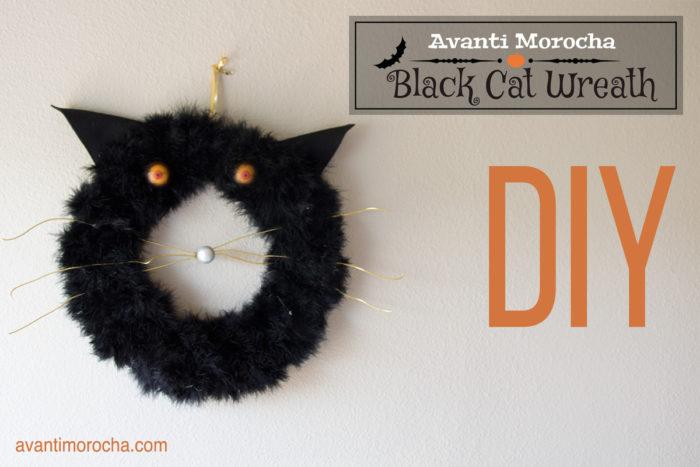 DIY Black Cat Wreath