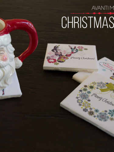 DIY Christmas Coasters / Portavasos Navideños