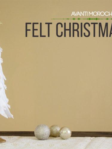 DIY Felt Christmas Tree / Arbol Navideño de Fieltro