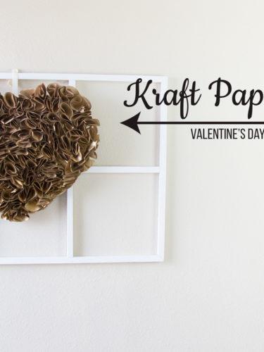 DIY Kraft Paper Heart / Corazon de Papel
