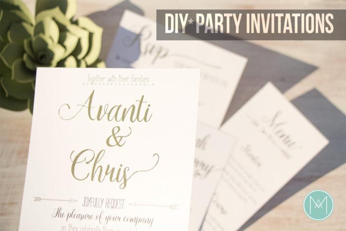 DIY Party Invitations - Deco Foil