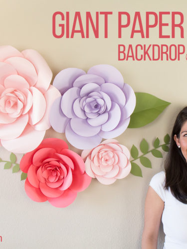 "DIY Giant Paper Flower Backdrop ""Firenze Style"""