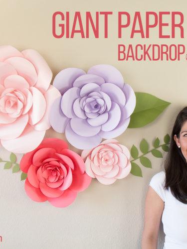 """DIY Giant Paper Flower Backdrop """"Firenze Style"""""""