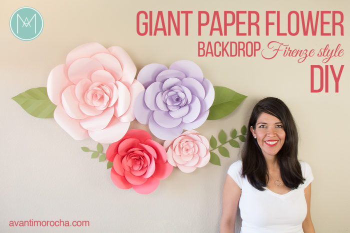 DIY Giant Paper Flower Backdrop - Firenze