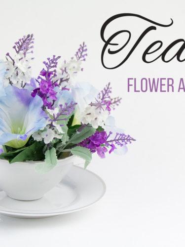 DIY Teacup Flower Arrangement / Adorno Floral