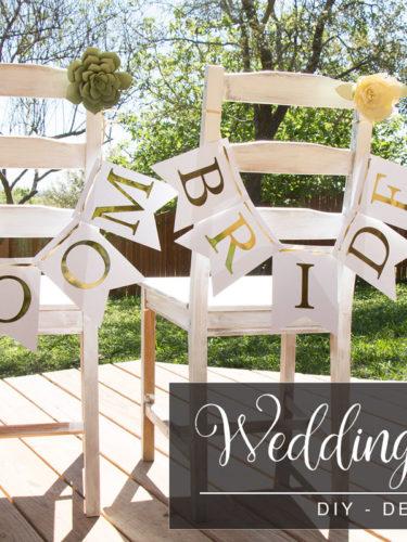 DIY Wedding Chairs Decor / Decoracion Sillas de Boda