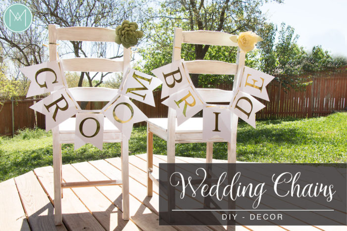 DIY Wedding Chairs Decor