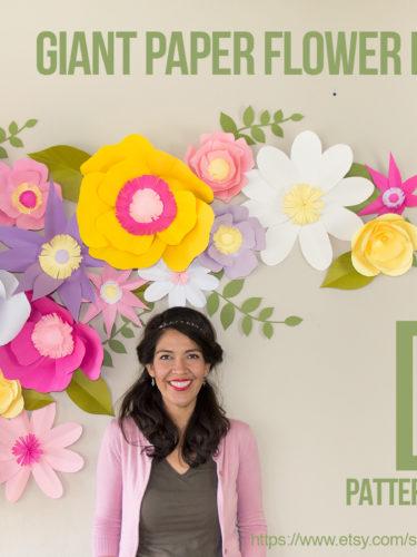 DIY Full Giant Paper Flower Backdrop