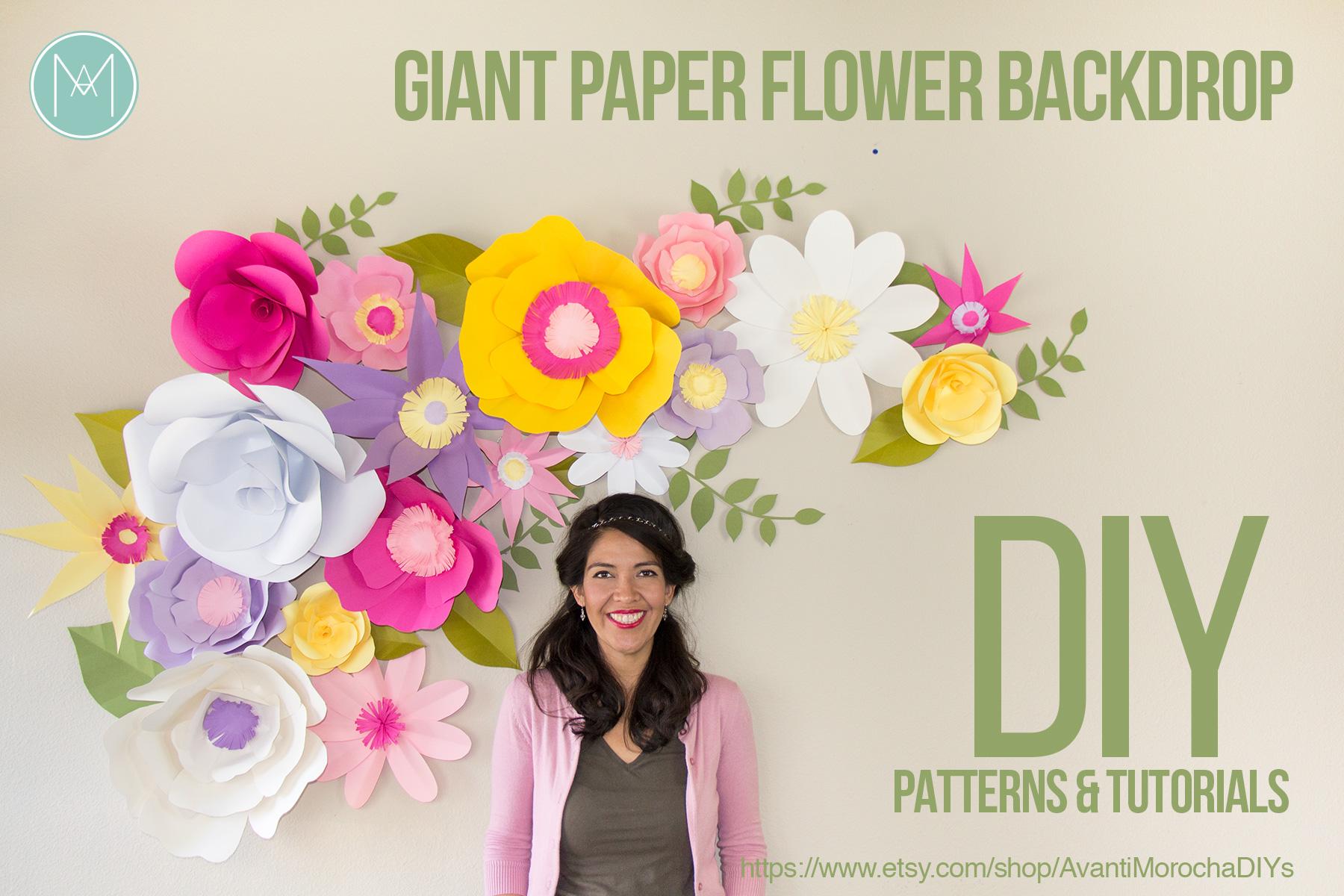Diy Full Giant Paper Flower Backdrop Avanti Morocha