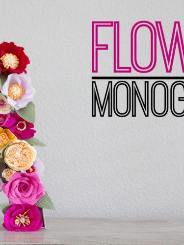 DIY Flower Monogram | Monograma de Flores