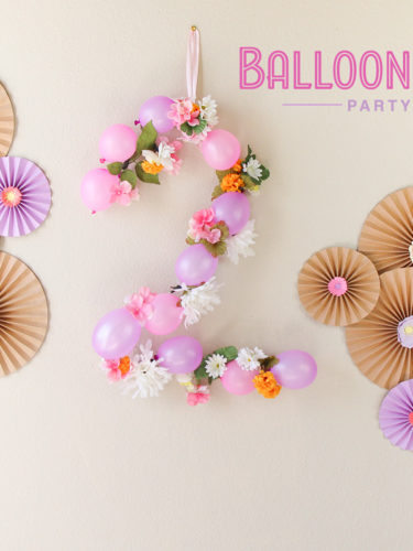 DIY Balloon Number