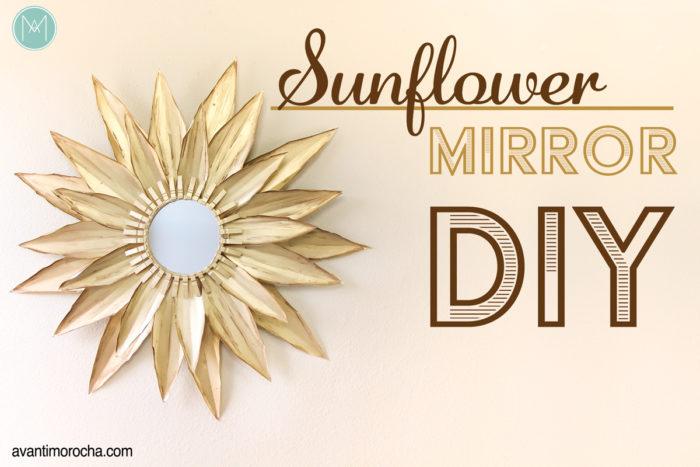 DIY Sunflower Wall Mirror