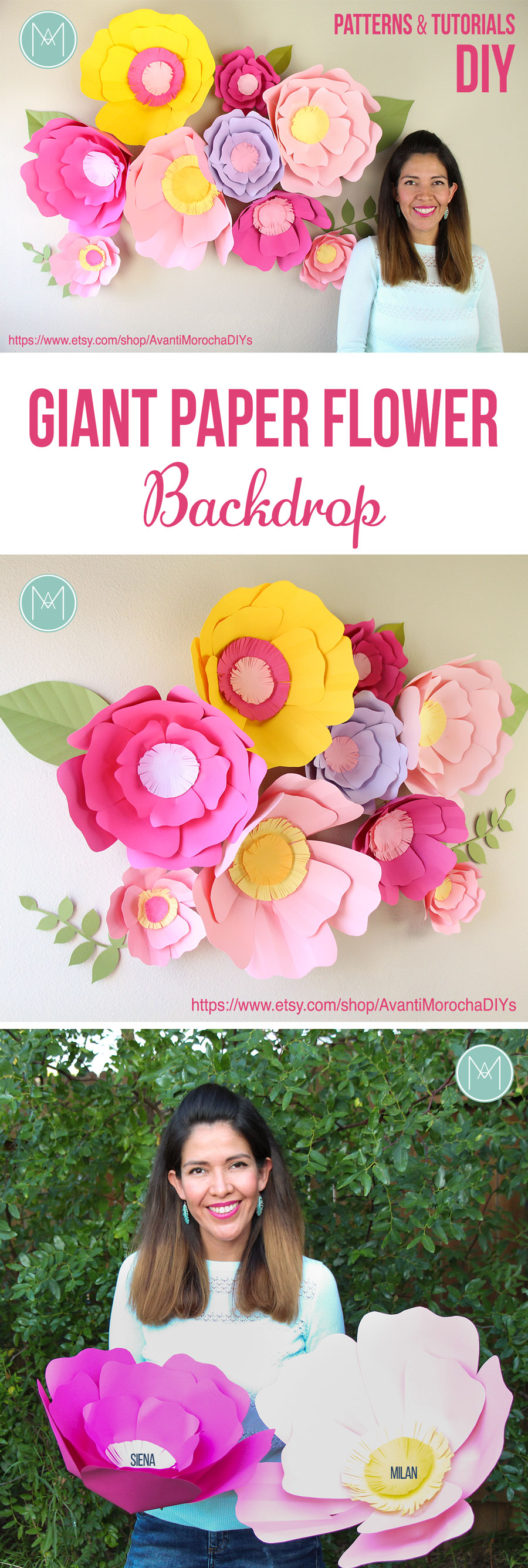 "DIY Giant Paper Flowers "" Siena and Milan"""