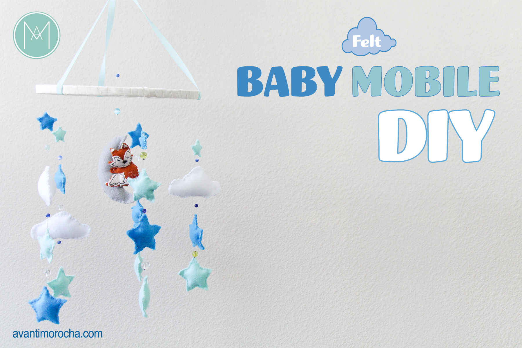 Diy felt baby mobile avanti morocha for Diy felt flower mobile
