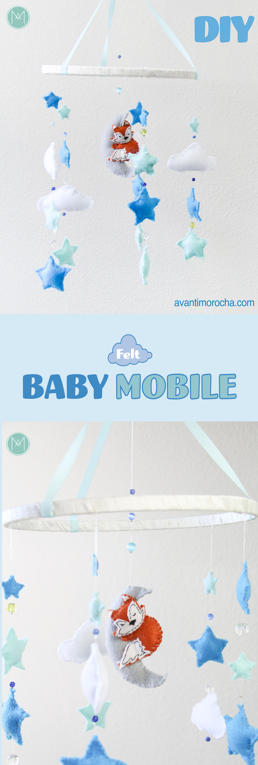 DIY Felt Baby Mobile – Movil de bebé