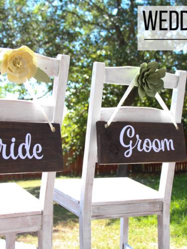 DIY Wedding Chair Signs / Decoracion de Bodas