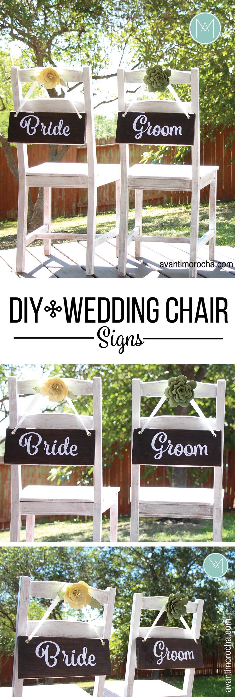 DIY Wedding Chair Signs