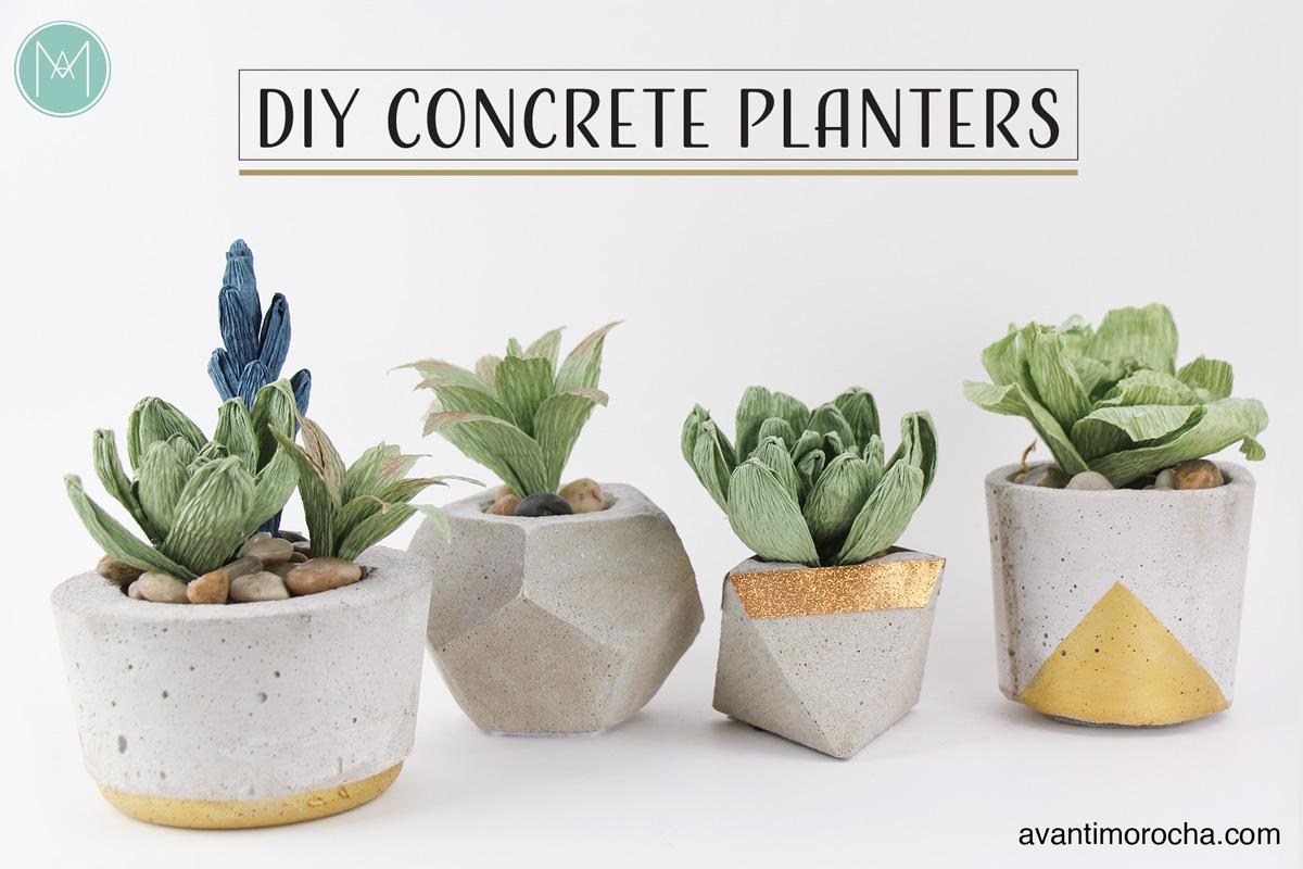 Diy Concrete Planters Avanti Morocha