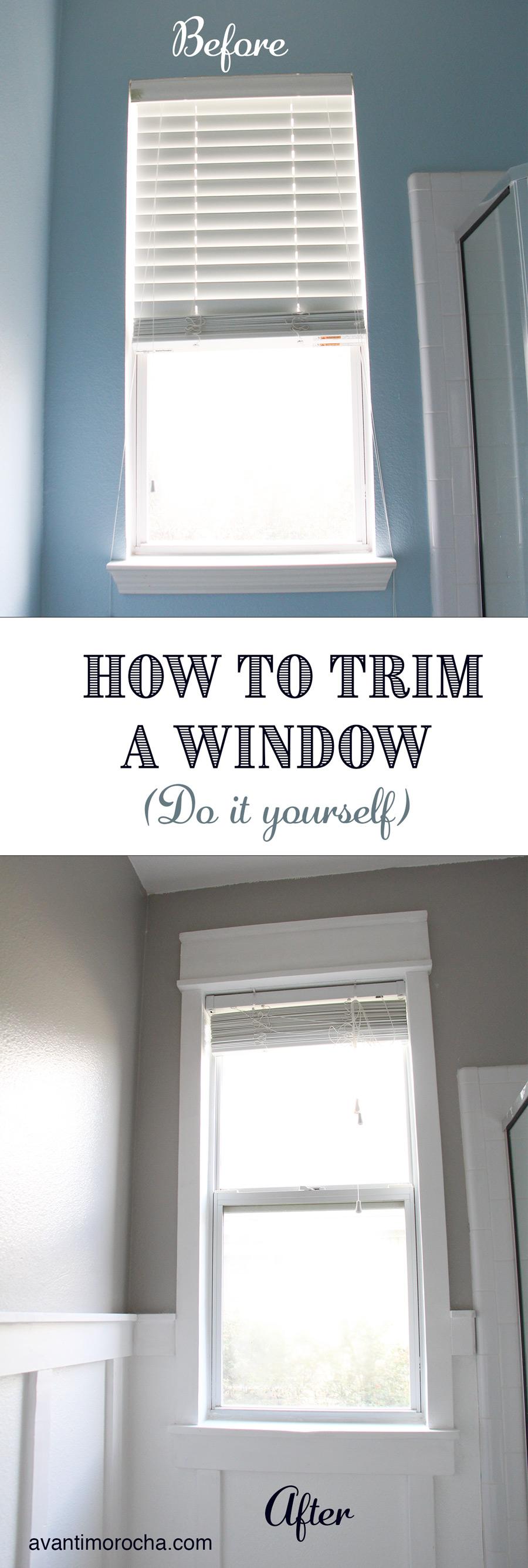 DIY window trim