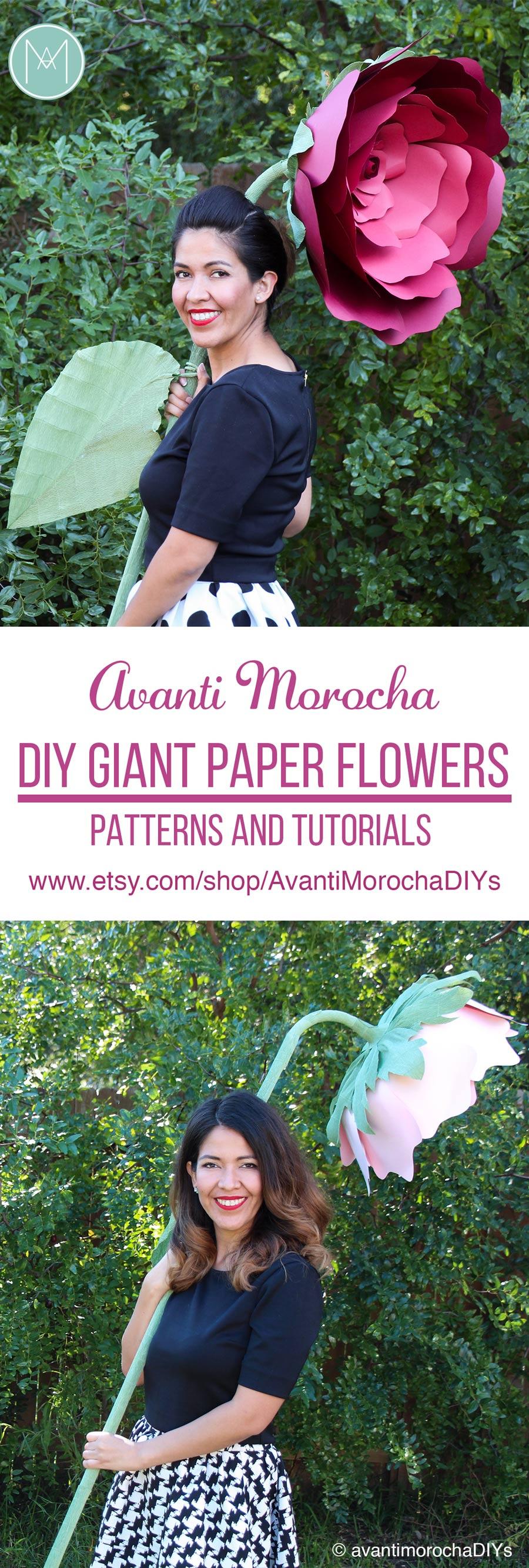 DIY Giant Paper Flowers | Stemmed Flowers